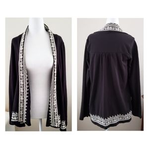 Lucky Brand Embroidered Cardigan Top